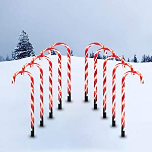 Christmas Candy Cane Lights, 10 Pack 21