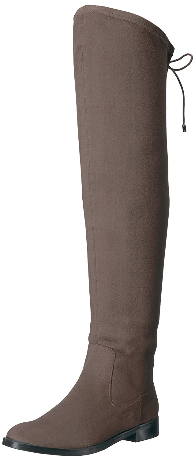 Kenneth Cole REACTION Women's Wind Chime Over The Knee Stretch Low Heel Winter Boot B071Y7T7GG 6.5 B(M) US Dark Mushroom