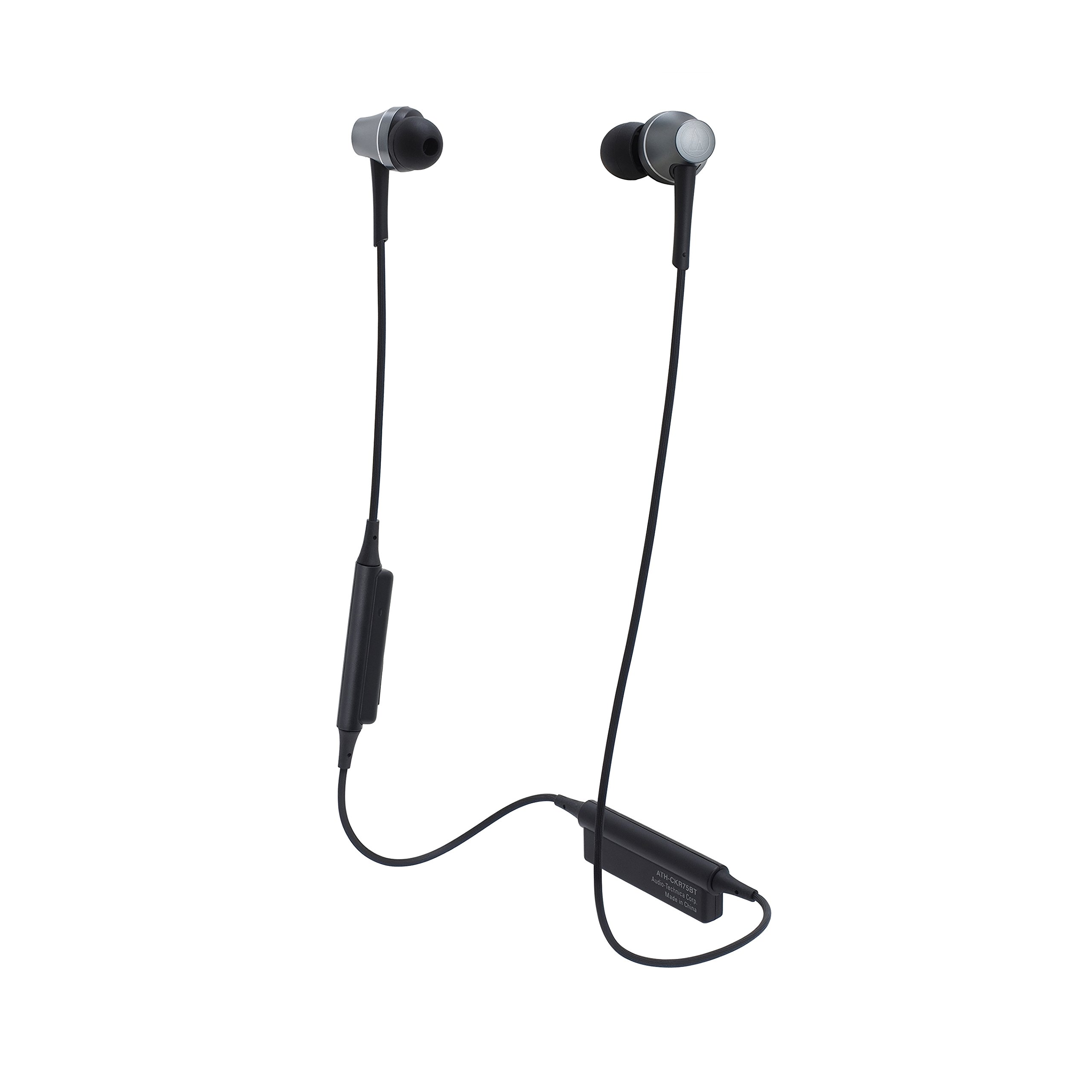 Audio-Technica ATH-CKR75BT Sound Reality Bluetooth Wireless In-Ear Headphones, Gun Metal
