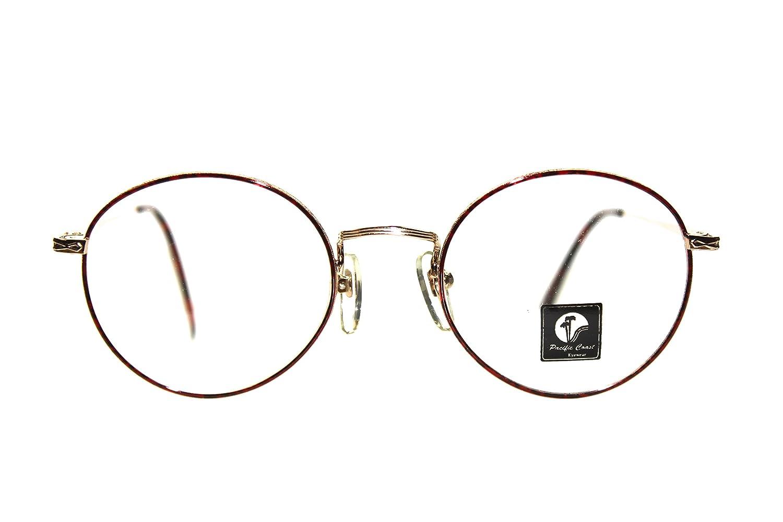 9273ec840c Amazon.com  Hipster Round Eyeglasses Prescription-Ready 49mm Gold Red  Tortoise  Clothing