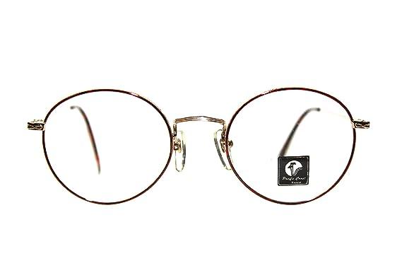 5f90518517 Amazon.com  Hipster Round Eyeglasses Prescription-Ready 49mm Gold ...