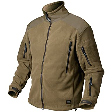 Amazon.com  Helikon Liberty Heavy Fleece Mens Polar Jacket Coyote ... 11aa2f316a0