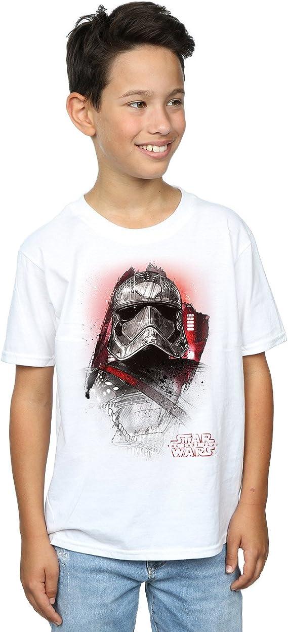 Star Wars niños The Last Jedi Captain Phasma Brushed Camiseta ...