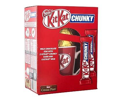 Nestle KitKat CHUNKY Huevo de Chocolate de Leche con kitKat Chunky Bars y Un kitKat Taza