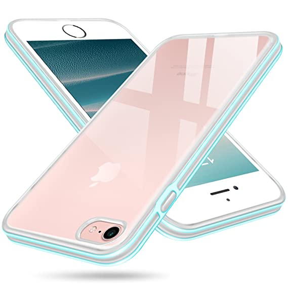 reputable site 4d1a6 b9c58 iPhone 7 Case, Clear iPhone 8 Case, Salawat Shockproof iPhone 7 Case Slim  Cover Soft TPU Defender Case Impact Resistant Colorful Bumper Protective ...