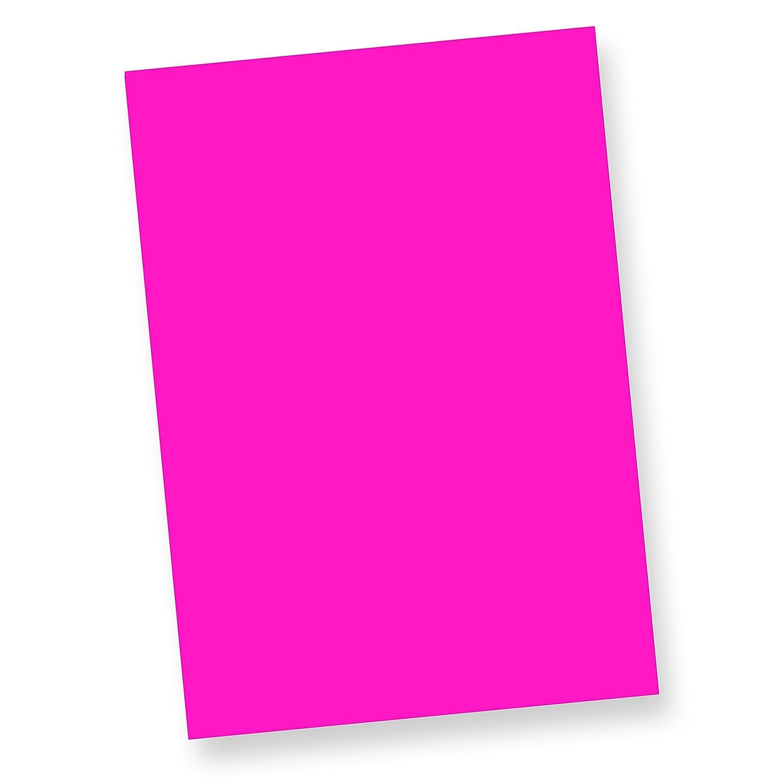 TATMOTIVE Neonpapier NEON DIN A4, 80 g/qm farbiges Briefpapier, Leuchtpapier, 250 Blatt - Pink