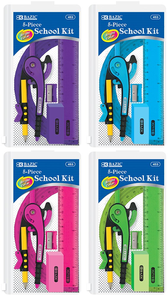School Kit w/ Zipper Pouch - 5 Pieces 144 pcs sku# 1916703MA