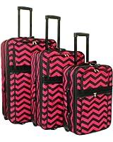 World Traveler Chevron Expandable Upright Luggage Set