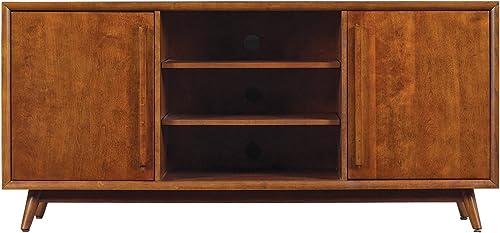 Pamari 299214 Rivara TV Stand for TVs up to 60 inches and Maximum Weight 75 lbs., Mahogany Cherry
