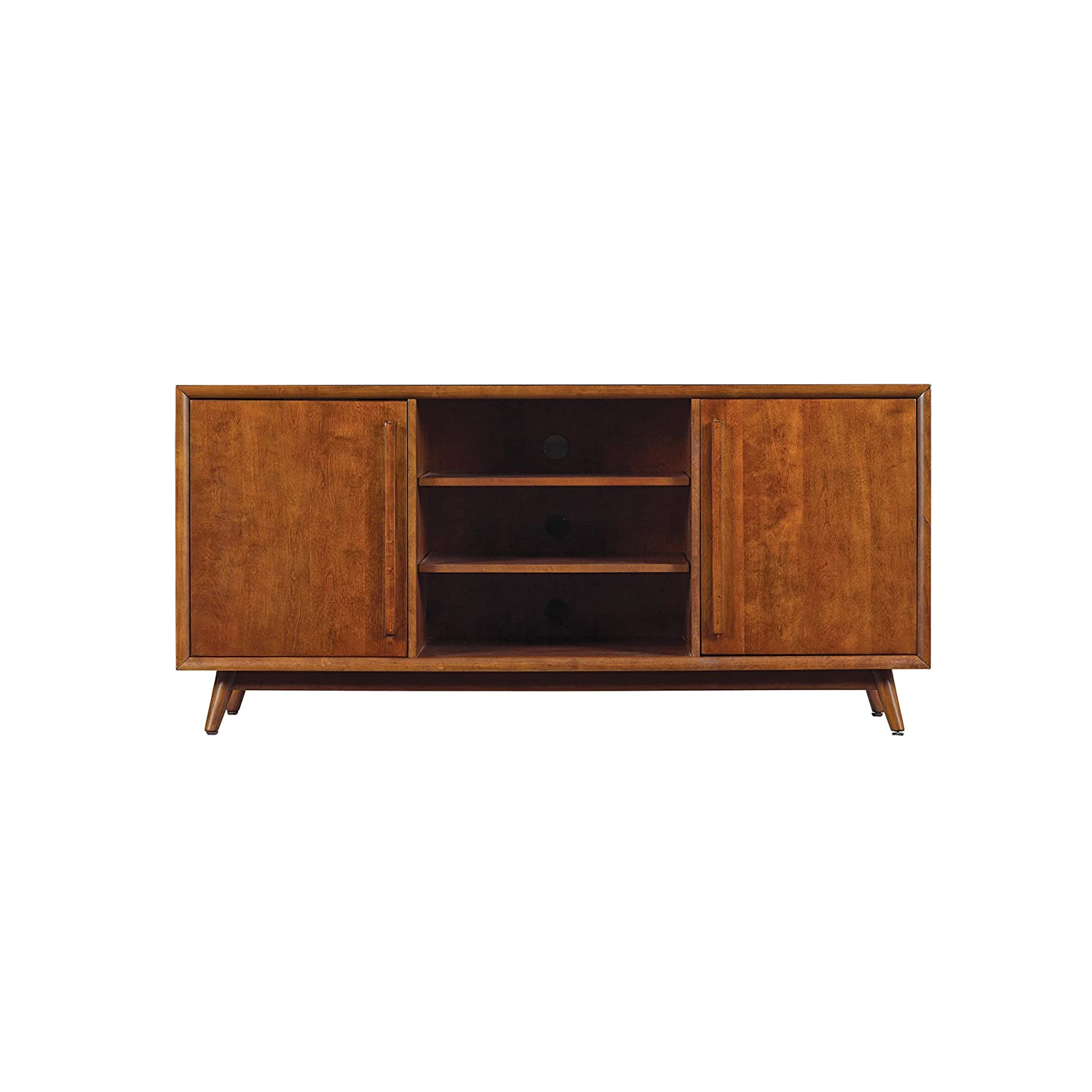 Pamari 299214 Rivara TV Stand for TVs up to 60 inches and Maximum Weight 75 lbs., Mahogany Cherry