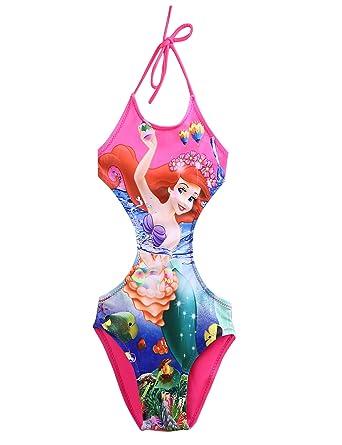 Ropa Bebe NiñA Verano Mermaid Siamese Swimsuit Girls Traje De BañO Fuera del Hombro Lindo