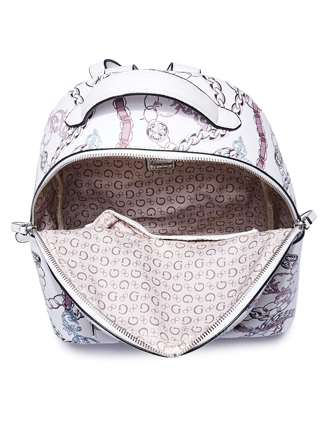 GUESS Factory Womens Monty Chain-Print Backpack