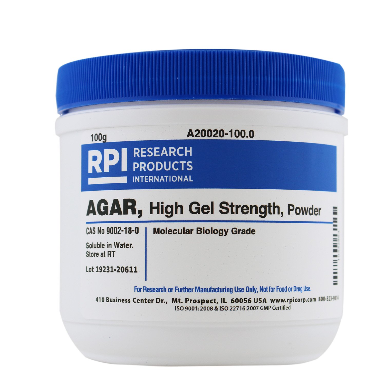 Agar, High Gel Strength, Powder, 100 Grams