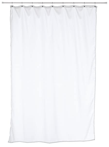 Carnation Home Fashions Fabric Stall Size Shower Curtain Liner White