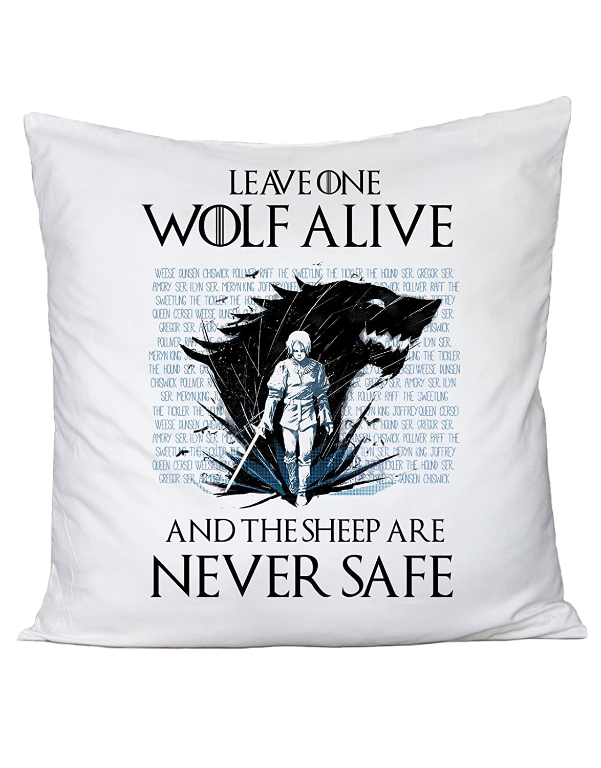 Cuscino Leave one wolf alive and the sheep are never safe - Arya Stark - Game of Thrones - Il Trono di spade - serie tv fashwork fshCS484BS