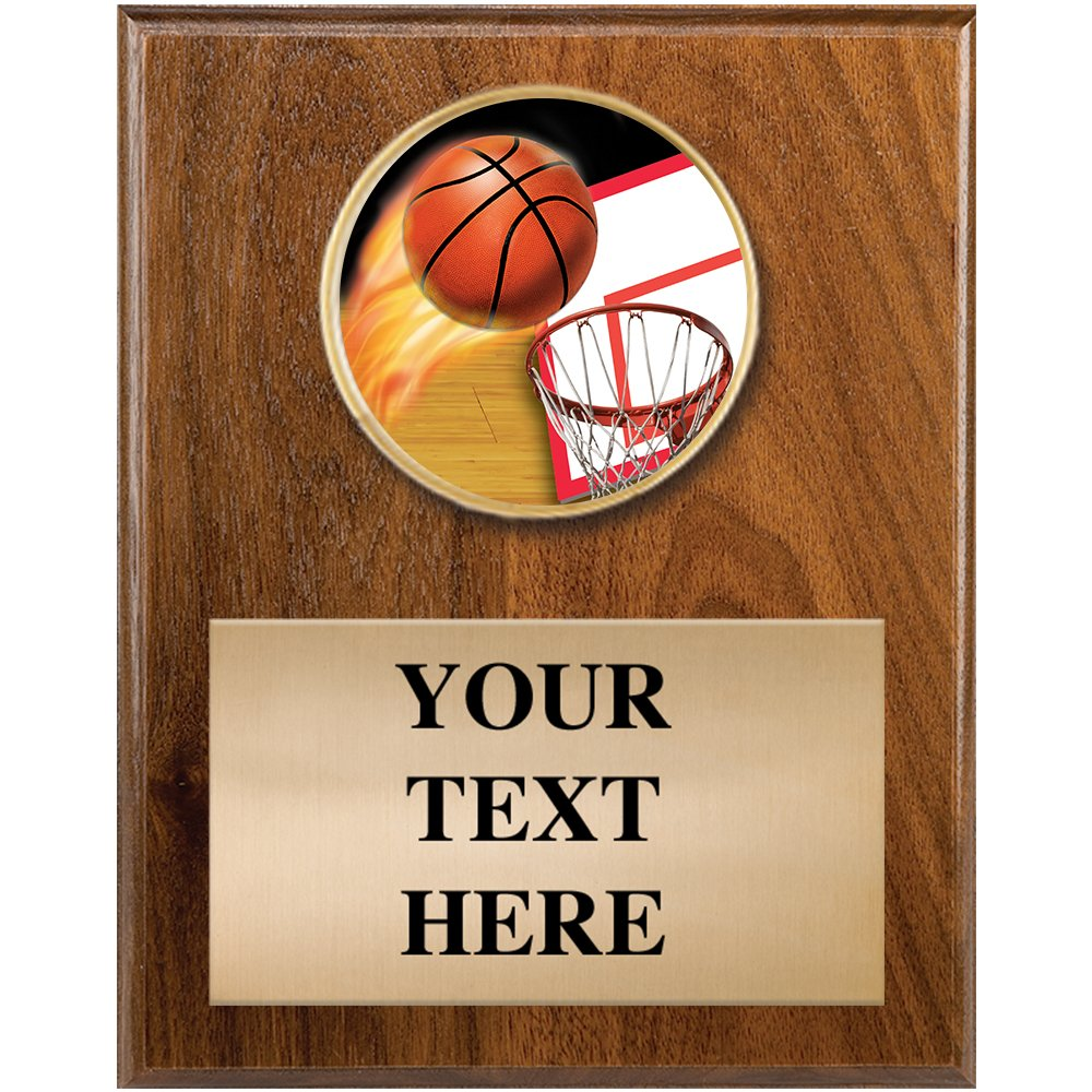 4 x 6 Personalized Basketball Sports Plaque Award Prime Basketball Plaque Awards