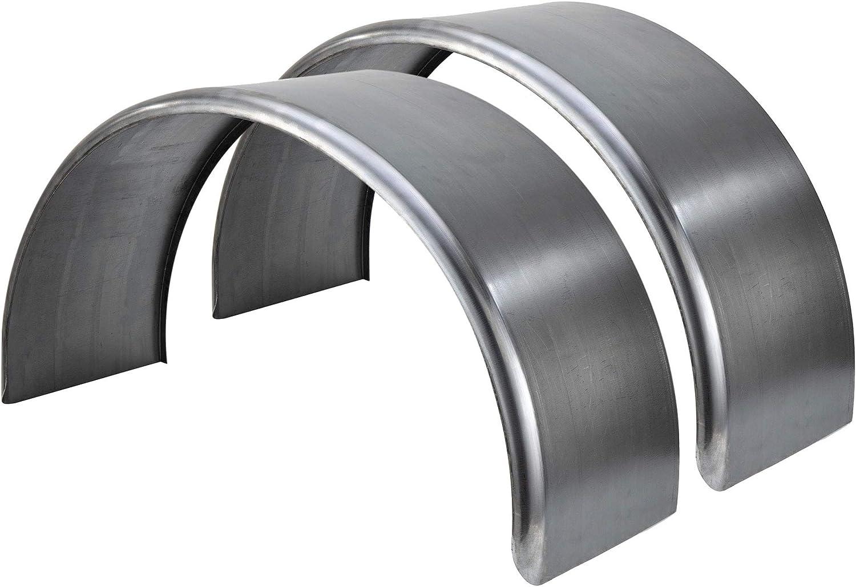 14 Gauge Steel RecPro Round Steel Trailer Fenders Single Axle 36 x 13 x 20 1 Fender, with Rubberized Undercoating Spray