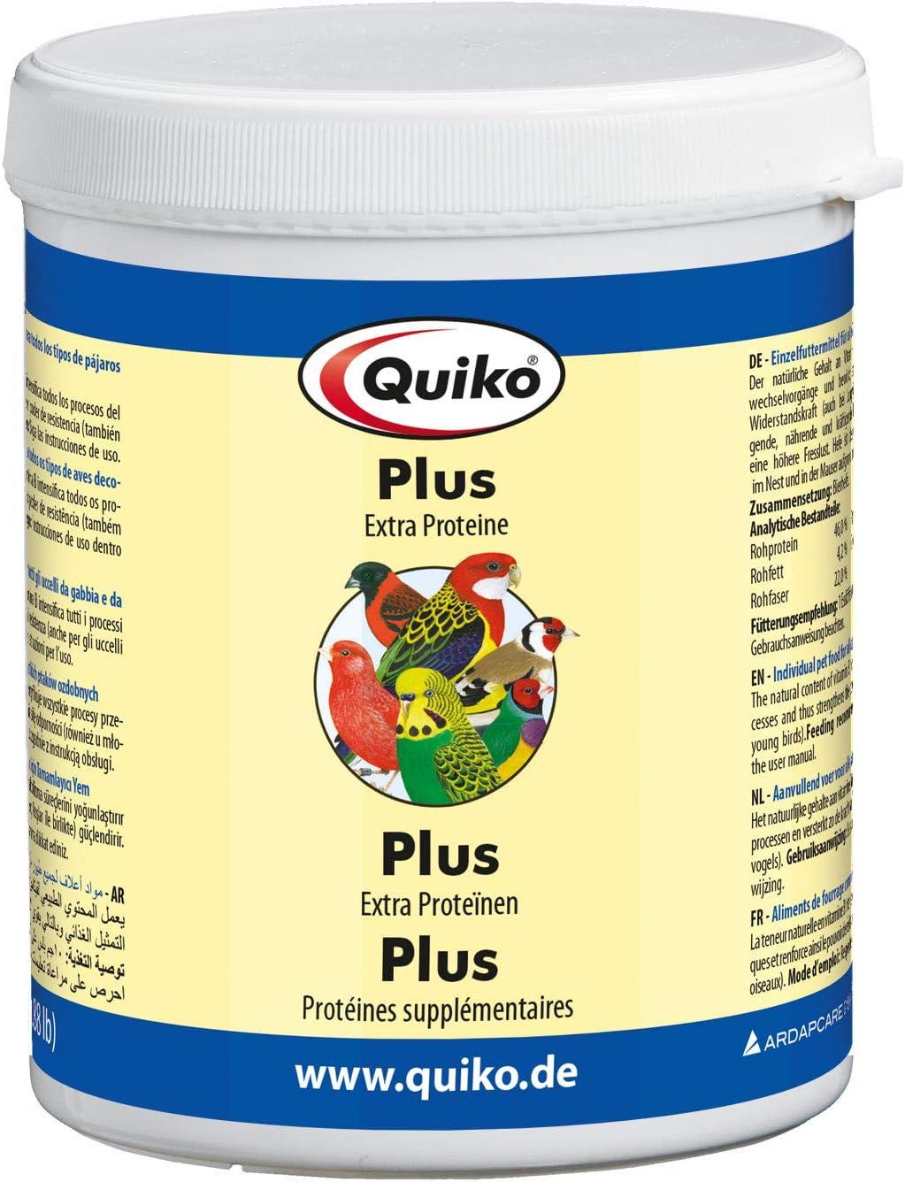 quiko Plus – Extra Proteínas para Pájaros de todos los tipos de pájaro Ornamentales, lata, 1er Pack (1 x 400 g)