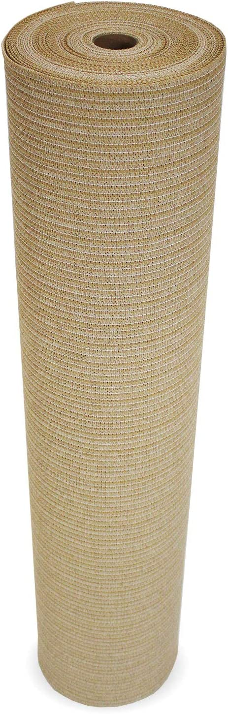 Coolaroo Shade Fabric 90 Outdoor or Exterior UV Protection for People, Pet, and Home Cover, 12 X 50 , Wheat