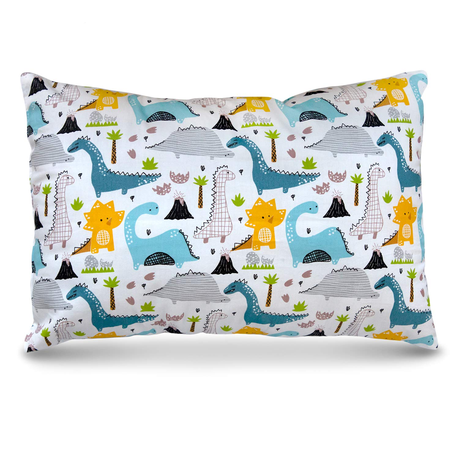 PharMeDoc Toddler Pillow for Kids 14 x 19 inch - No Pillowcase Needed - Machine Washable by PharMeDoc
