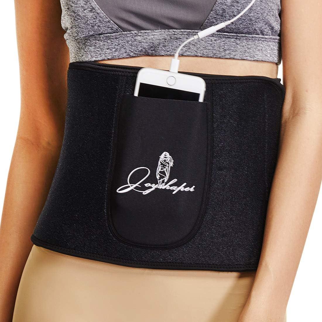 Amazon Com Waist Trimmer Belt Weight Loss Stomach Shaper Women Sweat Belly Band Wraps Ab Sauna Exercise Belt Sports Outdoors