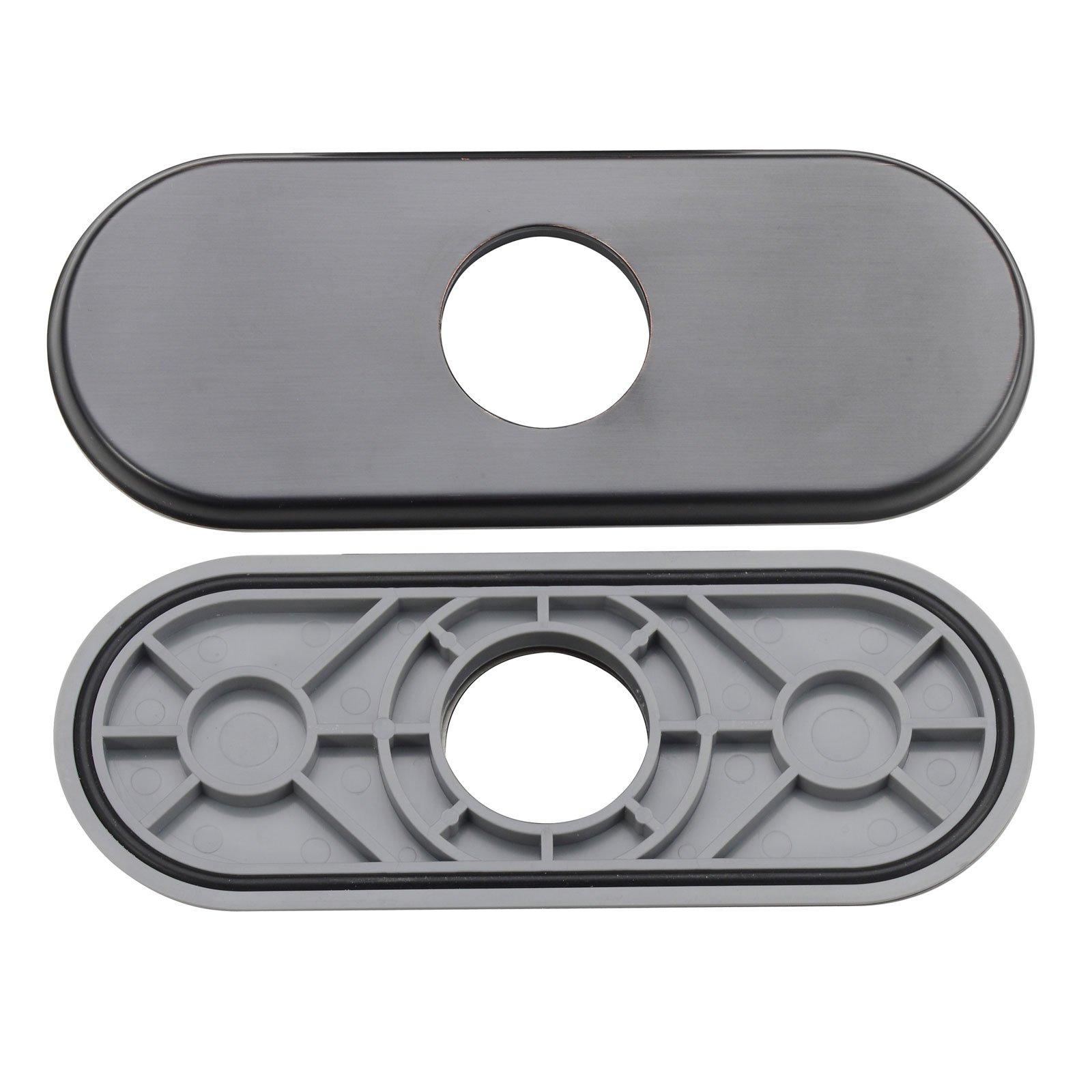 ELITE DP10ORB Oil Rubbed Bronze Bathroom Sink Faucet Hole Cover Deck Plate Escutcheon
