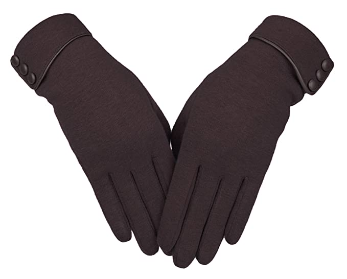 Vintage Gloves History- 1900, 1910, 1920, 1930 1940, 1950, 1960 Knolee Womens Screen Gloves Warm Lined Thick Touch Warmer Winter Gloves $6.99 AT vintagedancer.com
