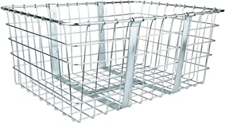 "product image for Wald 57 Bicycle Basket, Chrome, 21"" x 15"" x 9"""