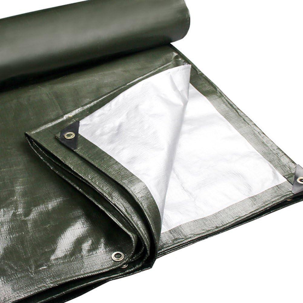 防水 ターポリン - ポリエチレンは防水性があり、日除け耐性があります。トラック用屋外日除け180g /m²、22サイズ、ArmyGreen @ (サイズ さいず : 5X7m)