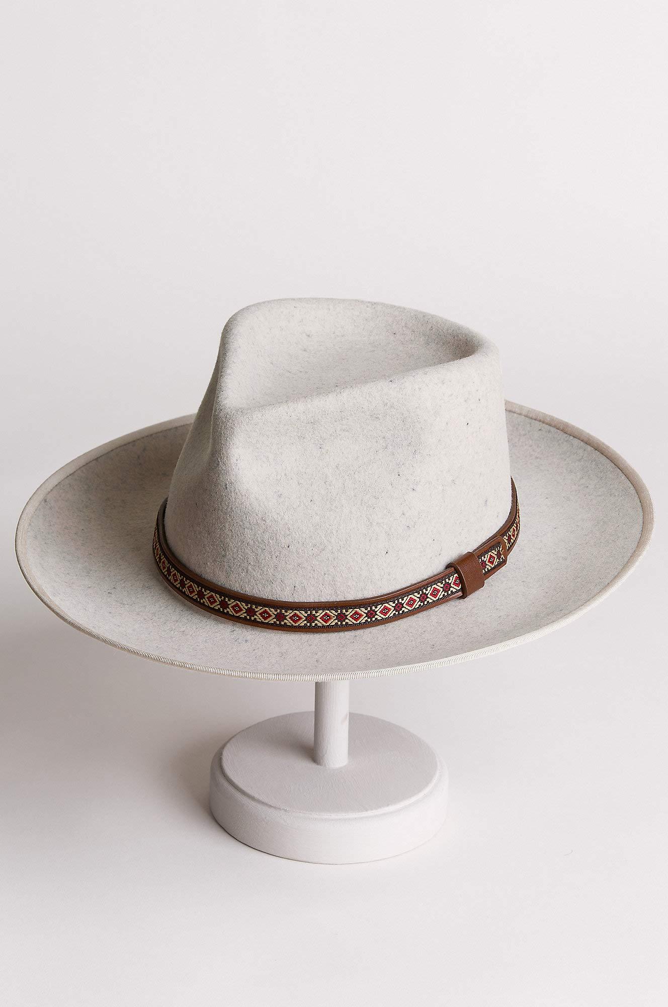 Overland Sheepskin Co Alpes Wide Brim Wool Felt Fedora Hat by Overland Sheepskin Co (Image #3)