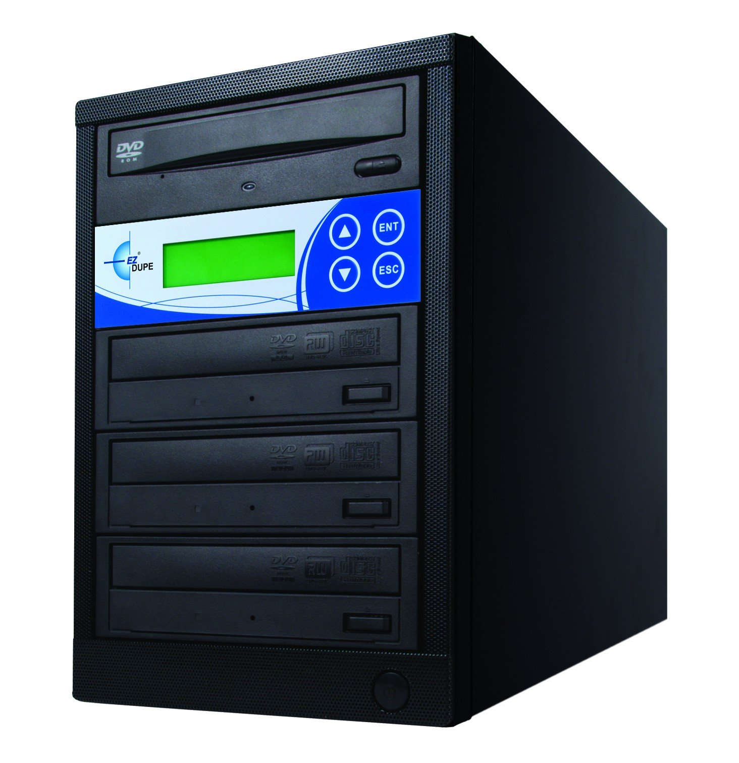 EZ Dupe 3-Target DVD/CD 24X Duplicator GS3SOB Black