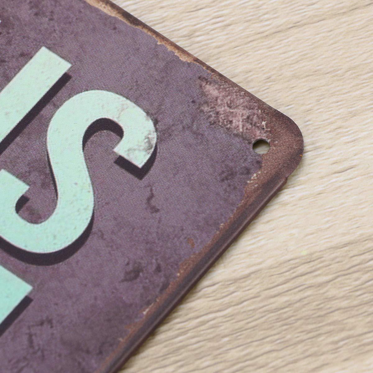 Vosarea Placa Vintage Retro Carteles de Chapa R/ústico Metal Carteles de Chapa Decoraci/ón para Casa Bar Cafe Pub Cocina Hogar