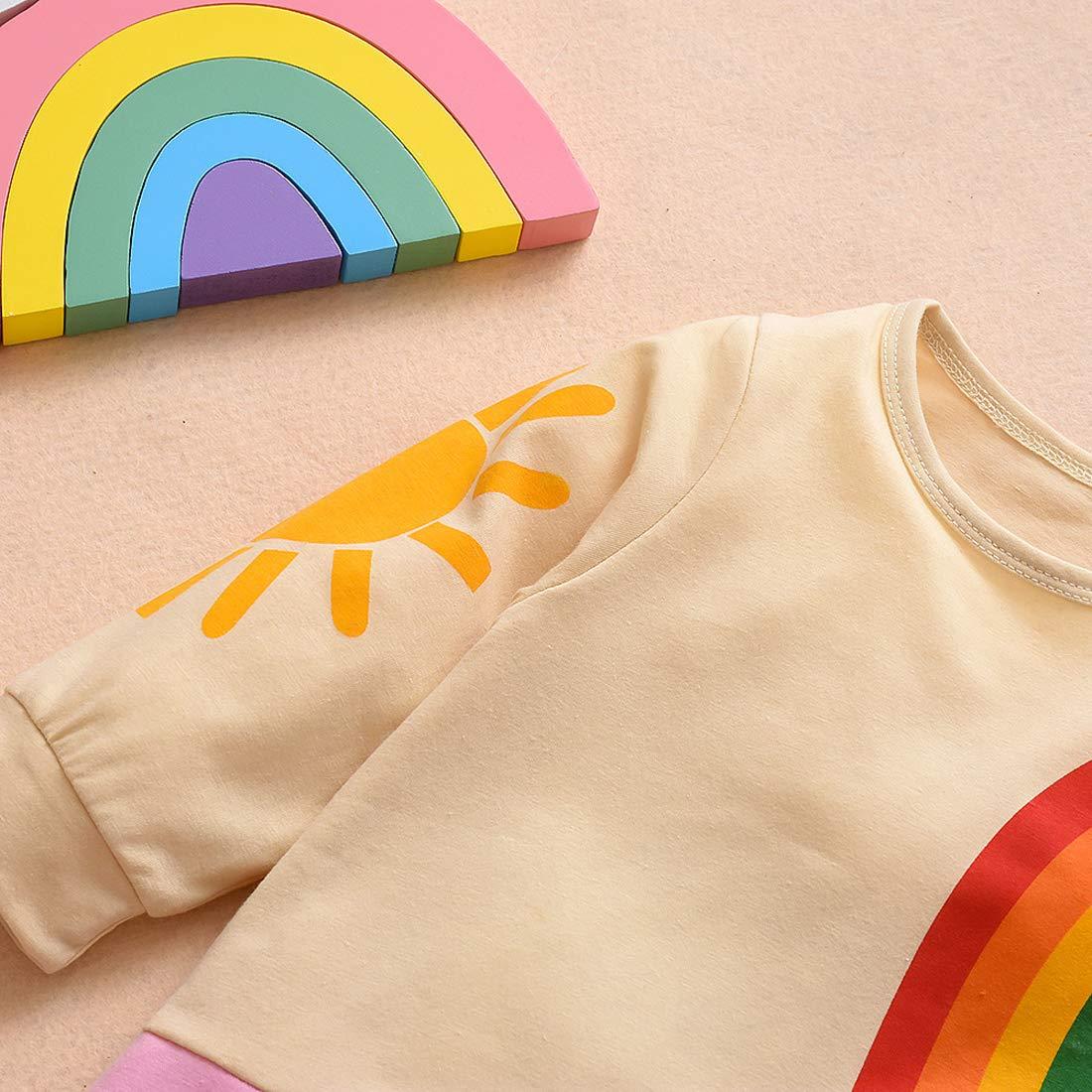 Color Liso Color Arco Iris Traje de Manga Larga para beb/é reci/én Nacido de la Marca Ucrania.