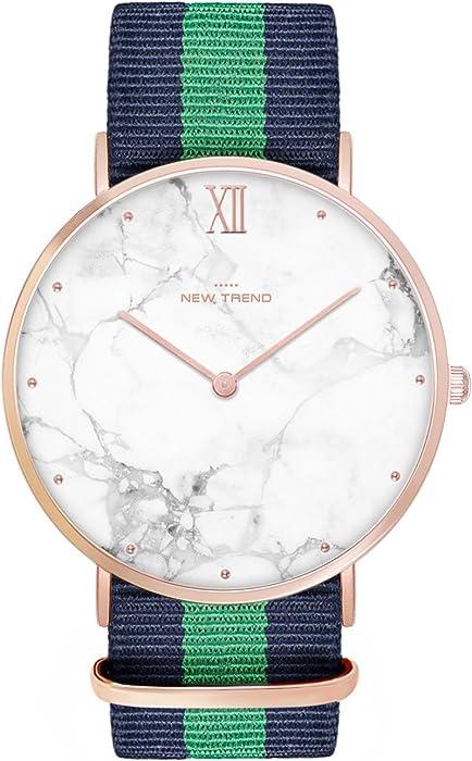 NEW Trend Unisex Reloj de pulsera mujer de reloj de hombre reloj, Trend de reloj Blogger de reloj, analógico, mecanismo de cuarzo, elegante diseño de mármol ...
