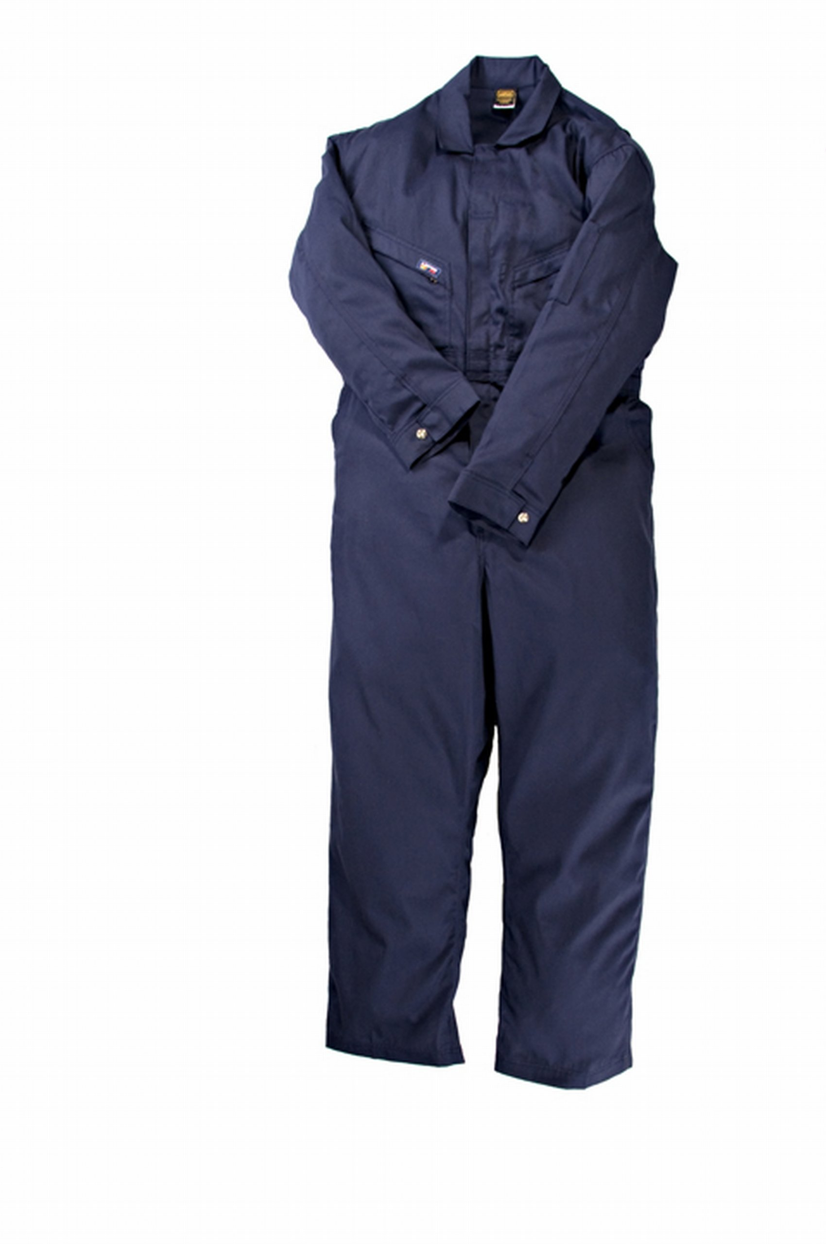 LAPCO CVFRD7NY-5XL RG Lightweight 100-Percent Cotton Flame Resistant Deluxe Coverall, Navy, 5X-Large, Regular
