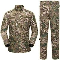 COZYJIA Traje de Camisa y pantalón Airsoft, Camuflaje Combate BDU para Hombre Camisa y pantalón de Uniforme…