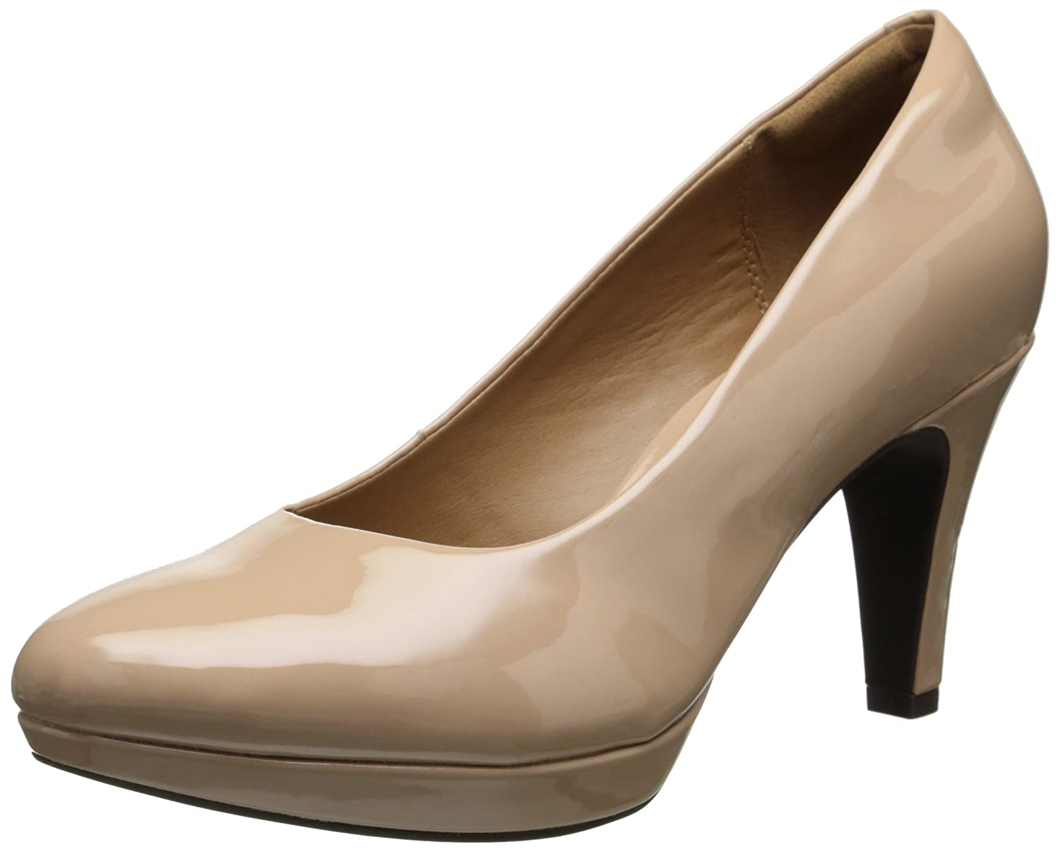 CLARKS Women's Brier Dolly Dress Pump B00HSHJEDM 8.5 B(M) US|Nude Synthetic