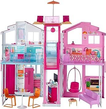 Barbie la Casa di Malibu per Bambole con Accessori e Colori Vivaci, Giocattolo per Bambini 3+ Anni, 18 x 41 x 74.5 cm, DLY32