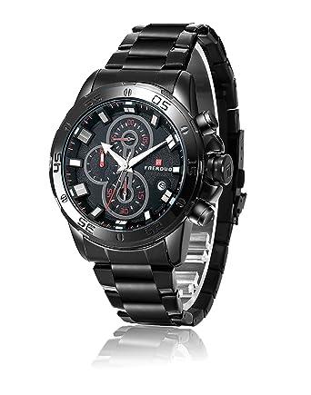FAERDUO Relojes para hombres, relojes de cuarzo, marcación múltiple, visualización de la fecha
