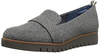 d2cedcdccce Dr. Scholl s Women s Imagined Perf Loafer Grey Flannel Fabric ...