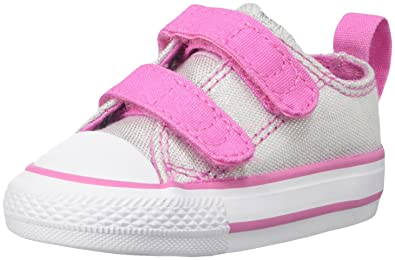 60a45163b497 Converse Girls  CTAS 2V - K Gray Pink 10 M US Toddler