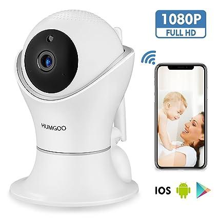 HUMGOO IP Cámara, WiFi Cámara de Vigilancia Interior 1080P Cámara de Seguridad 360° con