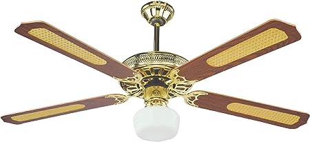 DCG Eltronic Ventilador de techo de 4 palas con mando a