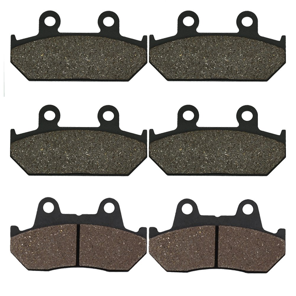 Cyleto Front and Rear Brake Pads for GL1500 GL 1500 Goldwing 1500 1988 1989 1990 1991 1992 1993 1994 1995 1996 1997 1998 1999 2000