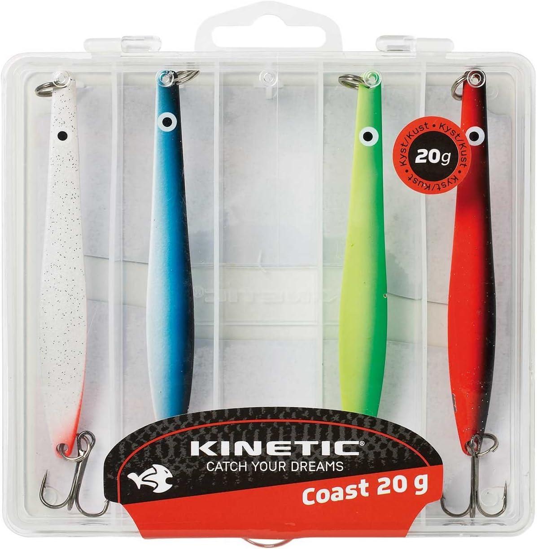 und Meerforellen-Blinkern bestehend aus K/öderbox und 5 Hornhecht Kinetic 5er Multipack verf/ügbar in 4 Gewichtklassen