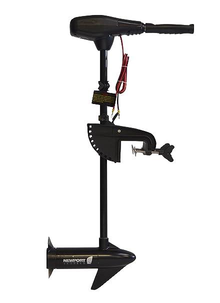 Newport Vessels NV-Series 36lb Thrust Saltwater Transom Mounted Trolling  Electric Trolling Motor w/LED Battery Indicator & 30