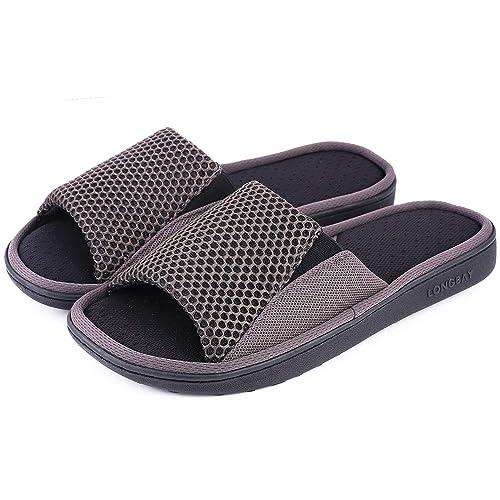 LongBay - Zapatillas de Estar por casa para Hombre: Amazon.es: Zapatos y complementos