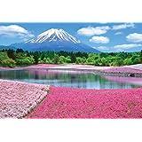 1000ピース ジグソーパズル 富士を彩るシバザクラ マイクロピース (26x38cm)