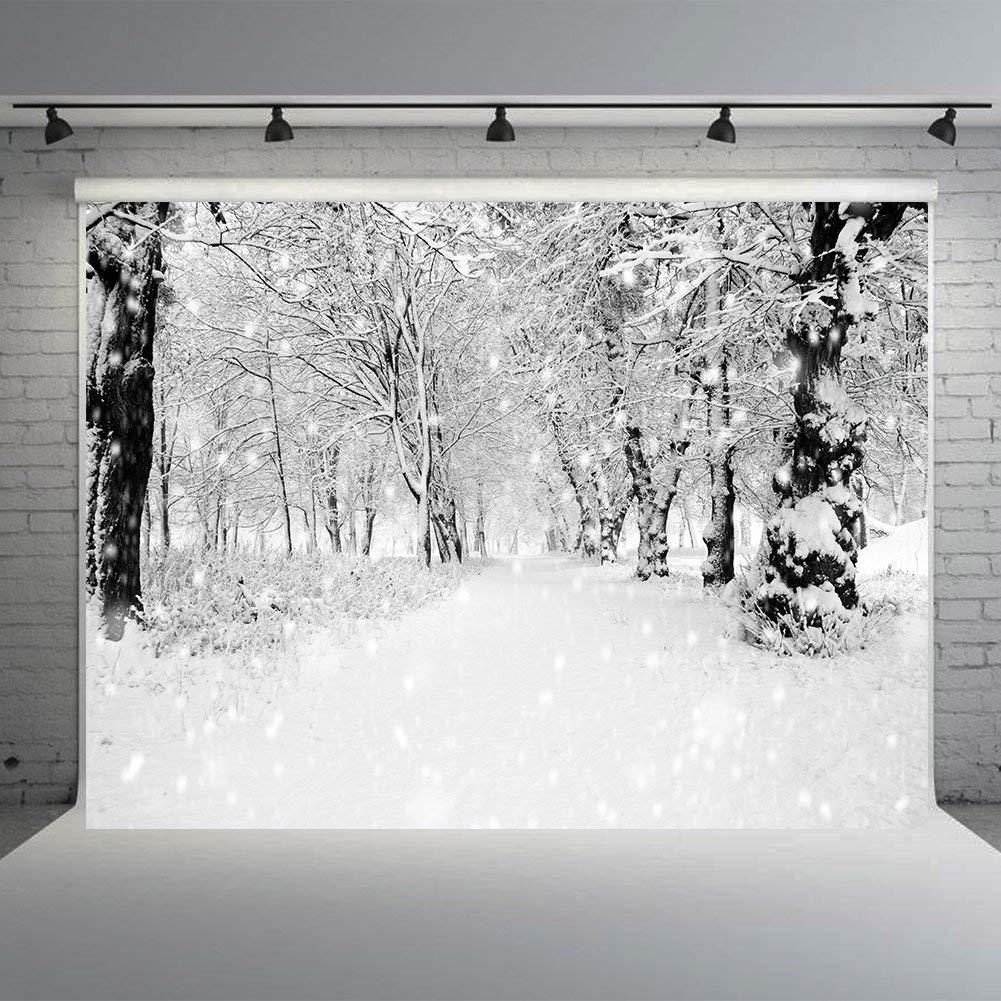 Amazon com white glitter snowflake backdrops for photography 7x5ft