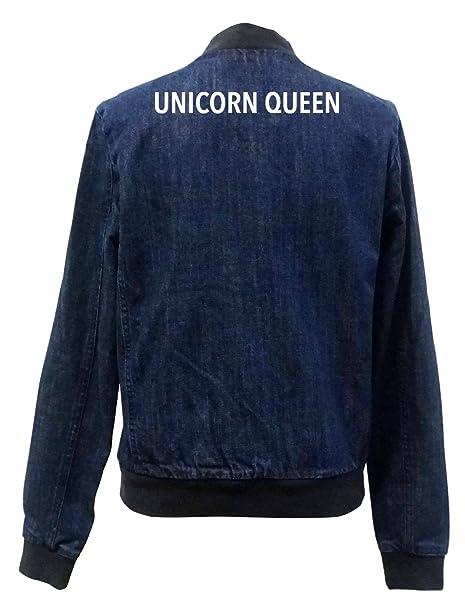 Unicorn Queen Bomber Chaqueta Girls Jeans Certified Freak-XS